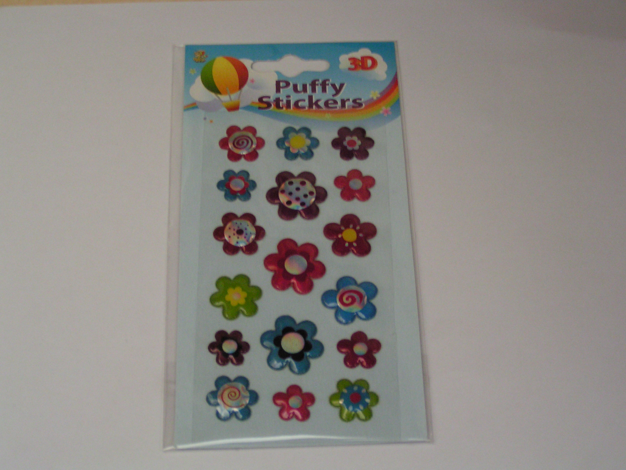 puffy stickers blommor