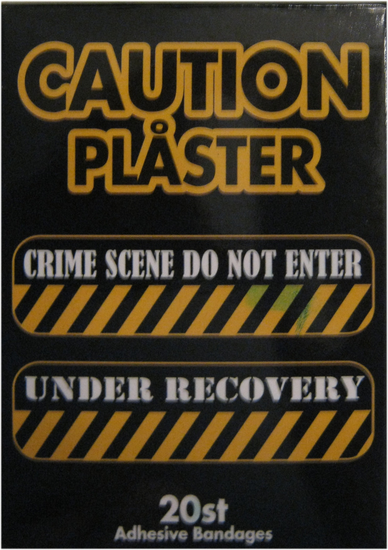 Pl�ster Caution crime scene
