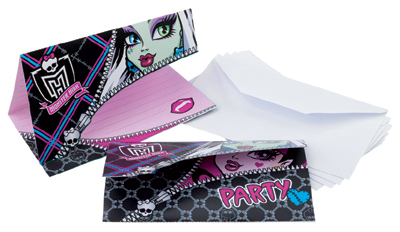 Inbjudningskort Monster High
