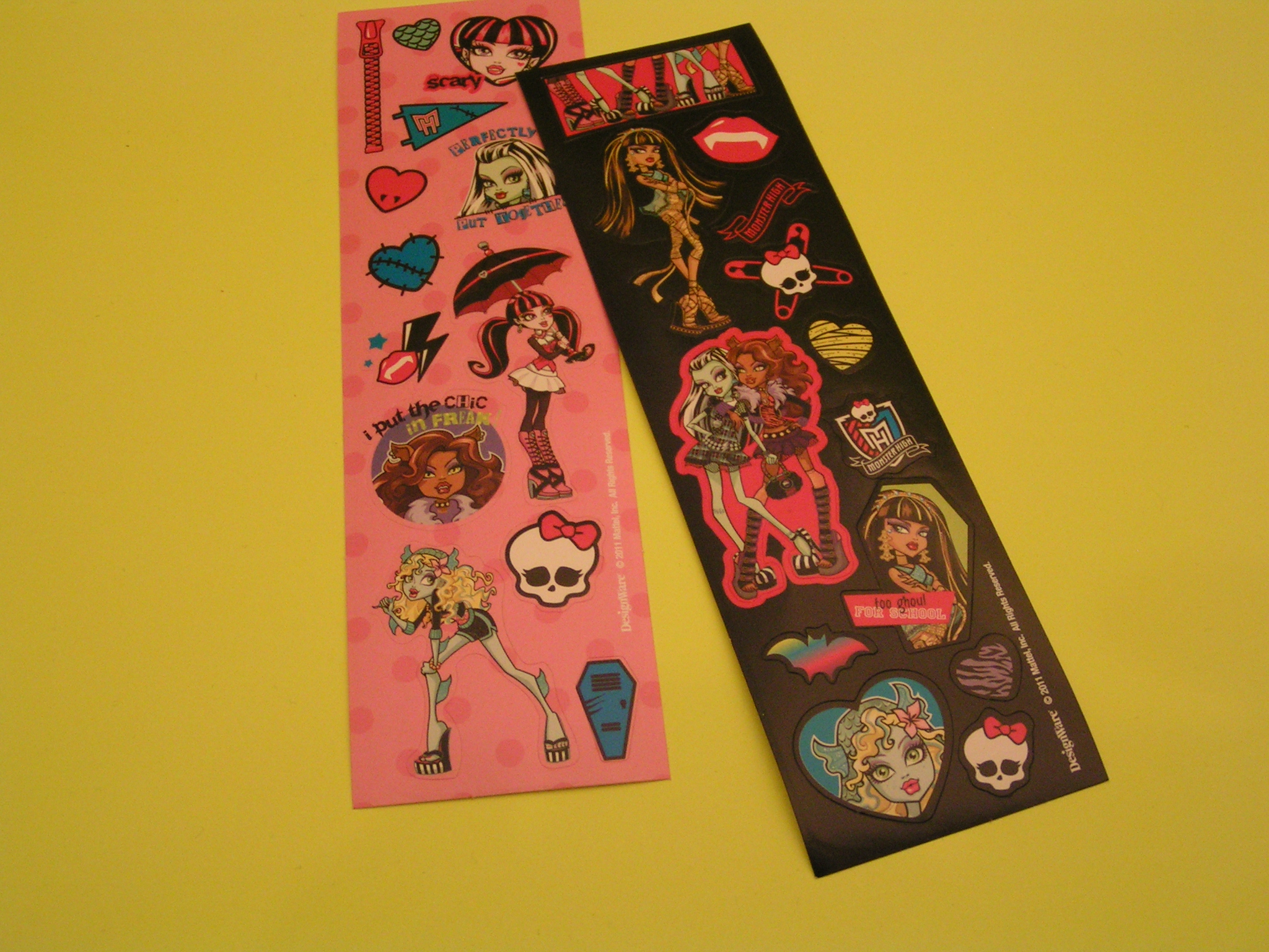 SMÅ stickersark Monster High 16X5cm